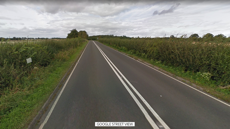 The incident happened on part of the A44