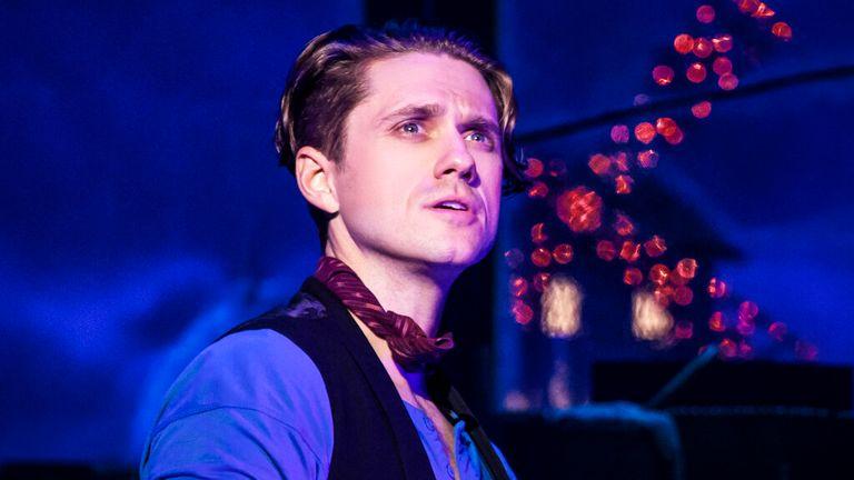 Aaron Tveit in Moulin Rouge. Pic: Matthew Murphy/Boneau/Bryan-Brown