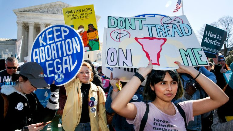 Republicans across the US have been pushing for tougher abortion laws and at least 12 other states have enacted bans early in pregnancy, but all have been blocked from going into effect. Pic Credit: AP