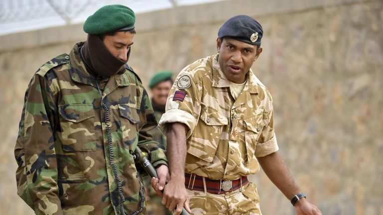 2009: UK soldiers training the Afghan National Army