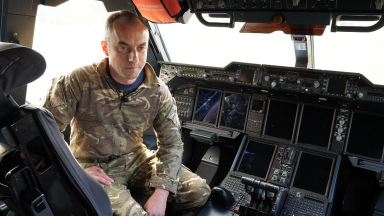 Squadron Leader Mark Parker, of 70 Squadron
