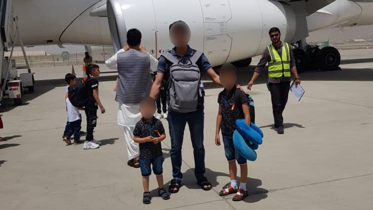 Ali and his children have been moved to temporary accommodation in the West Midlands