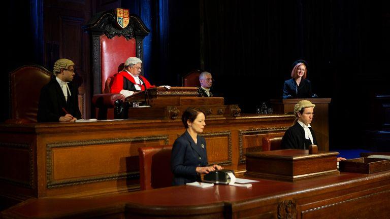 The show features a courtroom setting. Pic: Ellie Kurttz