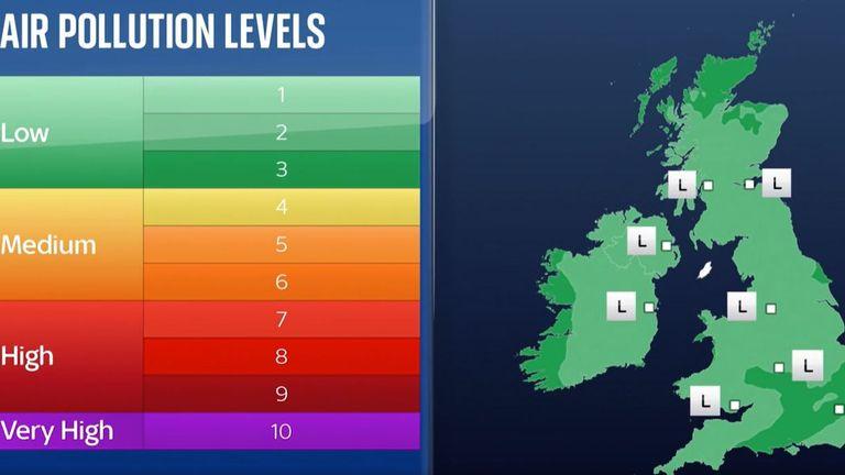 Air Quality Report for Wednesday 22 September