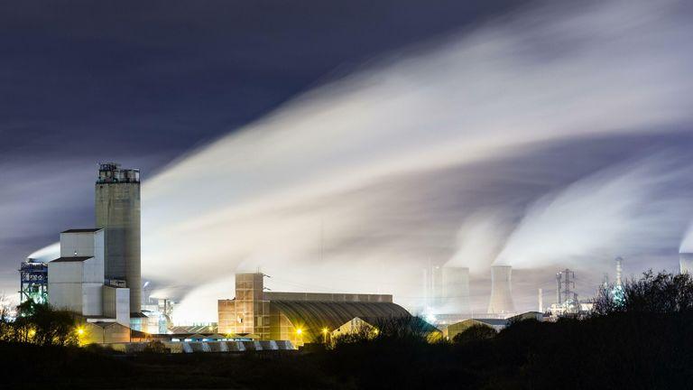 CF Industries fertiliser plant at Billingham near Middlesbrough, north east England. U