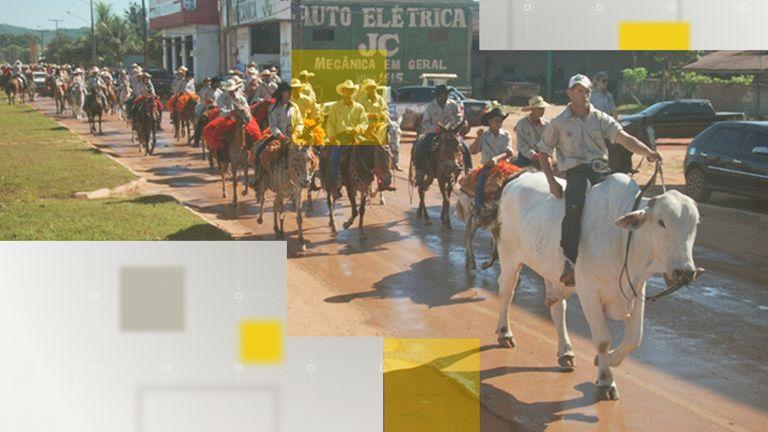 A parade in Novo Progresso, Brazil