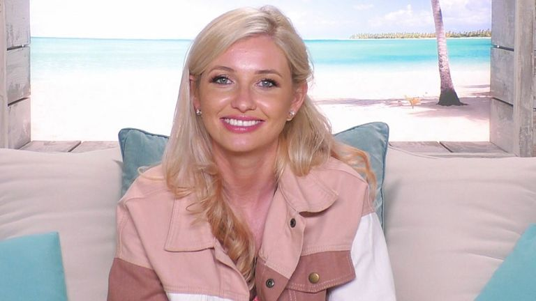 Amy Hart in Love Island in 2019. Pic: ITV/Shutterstock
