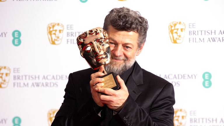 Andy Serkis will star in the Luther film. Pic. Joel C Ryan/Invision/AP