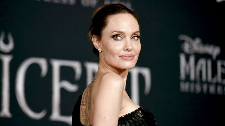 Jolie is a special envoy to the UN high commissioner for refugees. Pic: AP
