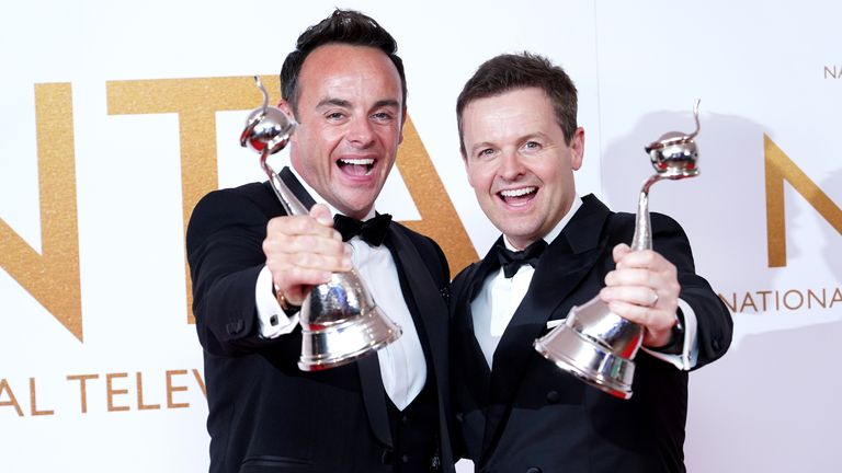 Ant and Dec with their 20th consecutive National Television Award