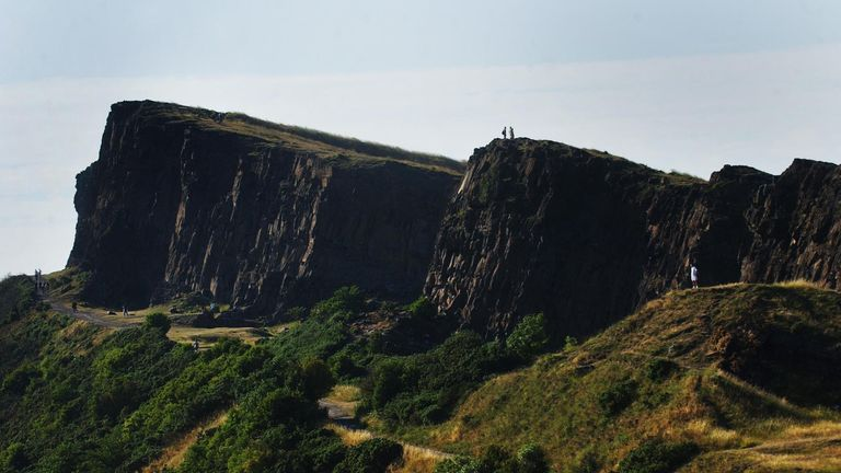 Arthur's Seat sits 251m above sea level and overlooks the Scottish capital