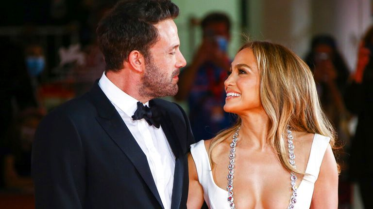 The couple couldn't take their eyes off each other at the film festival Pic: AP