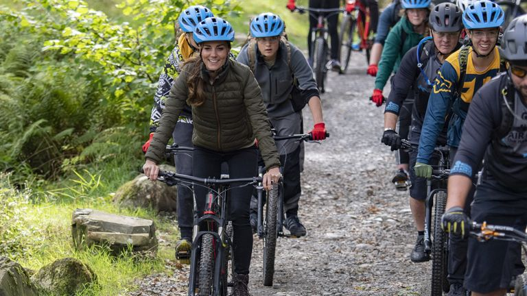 The Duchess of Cambridge during a visit to the RAF Air Cadets' Windermere Adventure Training Centre in Cumbria