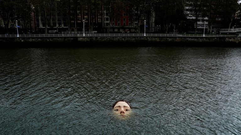 """The aim is for people to be aware that """"their actions can sink us or keep us afloat"""", the artist said"""