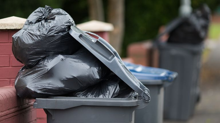 Bins have gone uncollected due to a shortage of HGV drivers. File pic