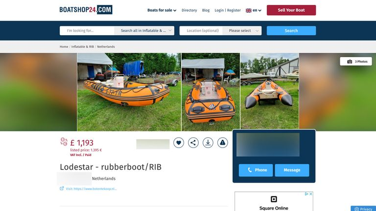 The boat for sale online
