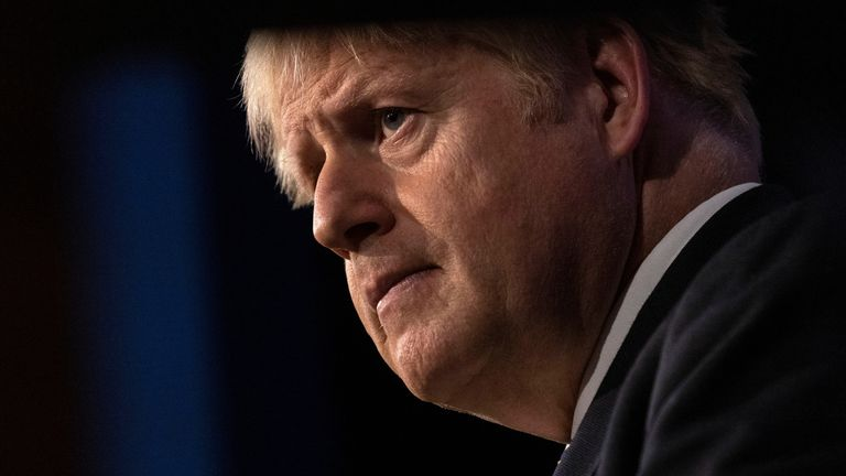Britain's Prime Minister Boris Johnson holds a news conference about COVID-19 in the Downing Street Briefing Room in London, Britain, September 14, 2021. Picture taken September 14, 2021. Dan Kitwood/Pool via REUTERS
