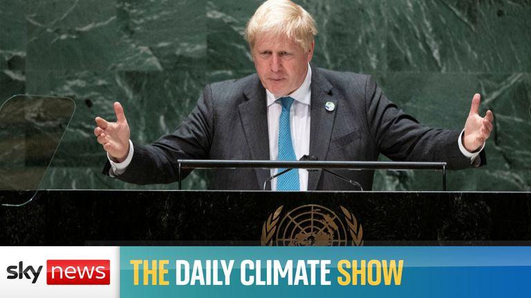 Boris Johnson addresses the UN