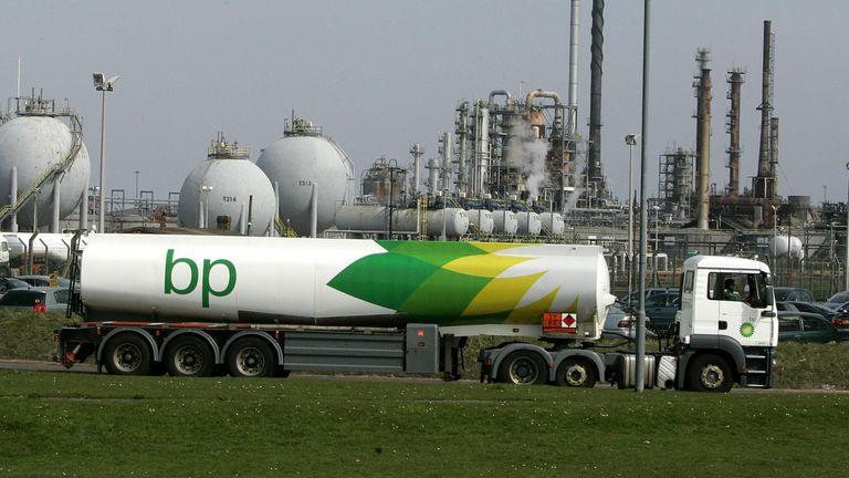 BP petrol tanker