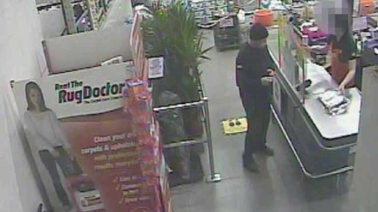Handout CCTV dated 05/03/21 taken between 1.43pm and 2.01pm issued by the Metropolitan Police of Wayne Couzens making a purchase at the checkout in a branch of B&Q in Dover, Kent. Former Metropolitan Police officer Wayne Couzens has appeared at the Old Bailey in London, on Wednesday for the first day of a two-day sentence hearing after pleading guilty to the kidnap, rape and murder of Sarah Everard. Issue date: Wednesday September 29, 2021.