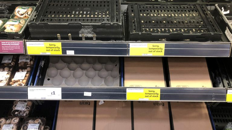 Critics say the protocol has contributed to bare supermarket shelves. File pic