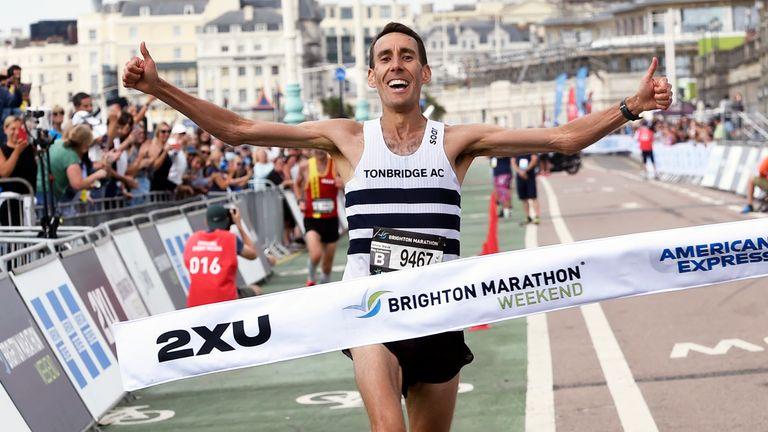 Men's winner NeilMcClement Pic: Brighton Marathon