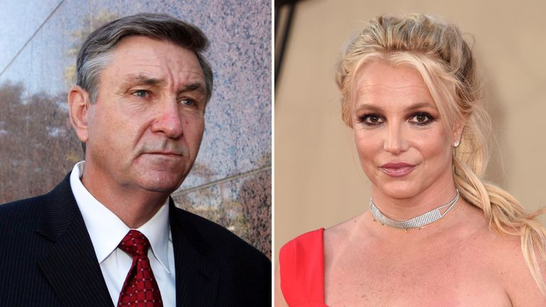 Spears want the court to end her father's control over her life Pic: AP