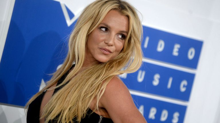 Britney Spears pictured at the 2016 MTV Video Music Awards in New York. Pic: Dennis Van Tine/STAR MAX/IPx/AP