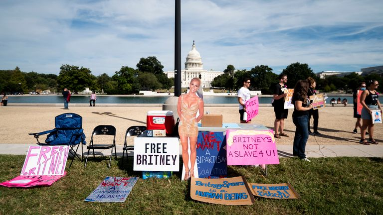 Britney fans have been campaigning for her 'freedom' for years Pic: AP