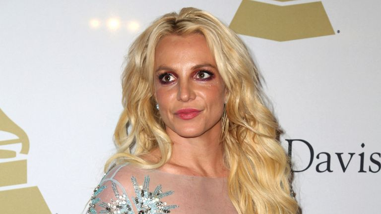 Britney Spears attends the Clive Davis and The Recording Academy Pre-Grammy Gala at The Beverly Hilton Hotel on Saturday, Feb. 11, 2017. Pic: AP