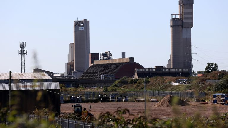 A general view of the CF industries plant in Billingham, Britain September 20, 2021