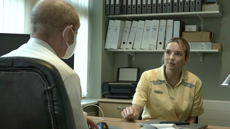 Ian Hart and Jodie Comer starred alongside each other. Pic: Channel 4