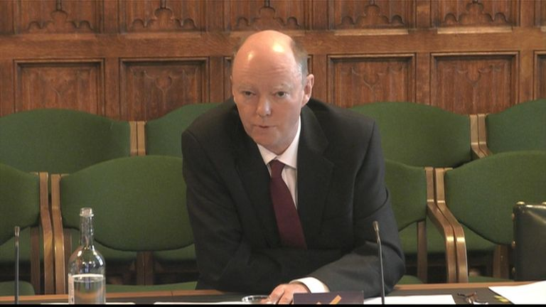 Chris Whitty at the education committee