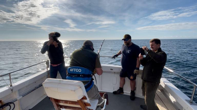 Sky News joined skippers off the south coast