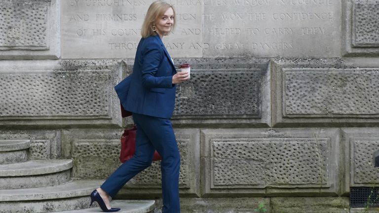 Liz Truss, the new Foreign Secretary, leaving the Foreign Office in Westminster, London, after Prime Minister Boris Johnson reshuffled his Cabinet. Picture date: Thursday September 16, 2021.
