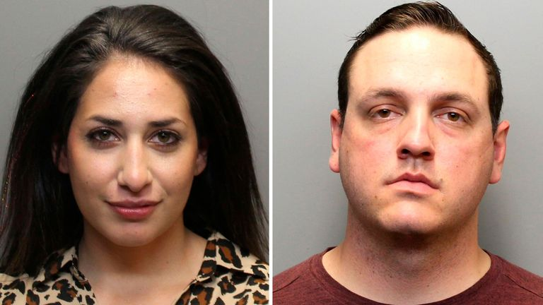 photo provided by the Larimer County Sheriff's Office, Daria Jalali is seen in a booking photo in Fort Collins, Colo.Jalali and Austin Hopp former police officers facing criminal charges over the rough arrest of a woman with dementia last year. PIC: Larimer County Sheriff's Office via AP