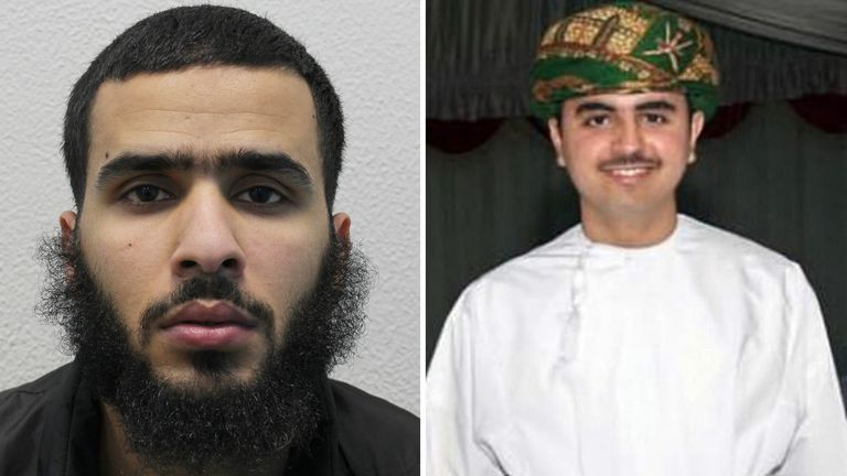 of Badir Al-Nazi who has been sentenced to a minimum of 27 years in prison at Inner London Crown Court after he murdered a wealthy Omani student, Mohammed Al-Araimi,