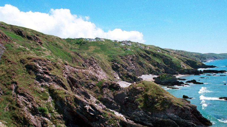 The divers went missing off Whitsand Bay.