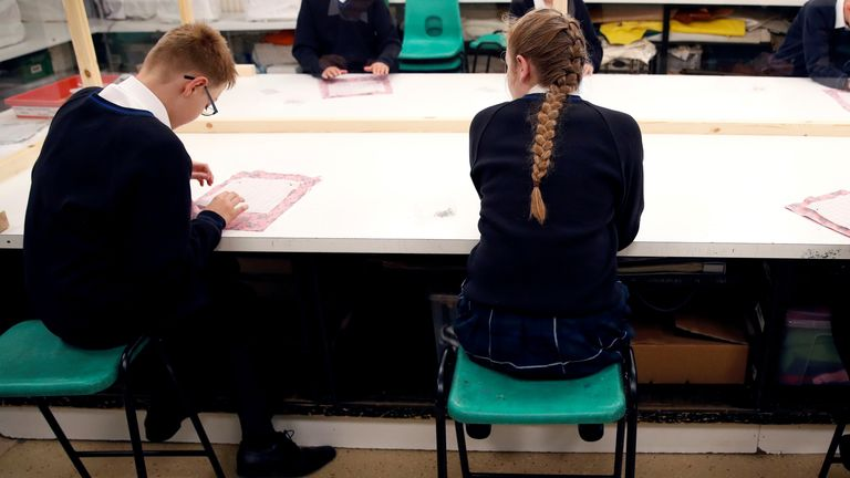 More than 27,000 students in England took part in the study between May and July. File pic