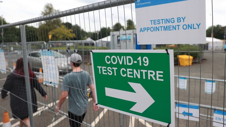 A Covid testing centre in Lisburn. A number of further relaxations of Covid-19 regulations in Northern Ireland have been agreed by Stormont ministers. Following a four-hour meeting of the Executive on Monday, ministers agreed that in domestic settings the maximum number of people who can meet indoors will increase to 15 people from four households. Picture date: Monday September 6, 2021.