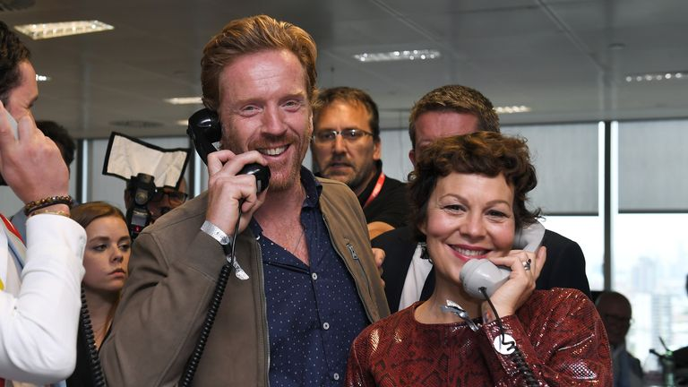Damian Lewis and his late wife Helen McCrory took part in BGC's annual global charity day together in 2019. Pic: James Veysey/Shutterstock