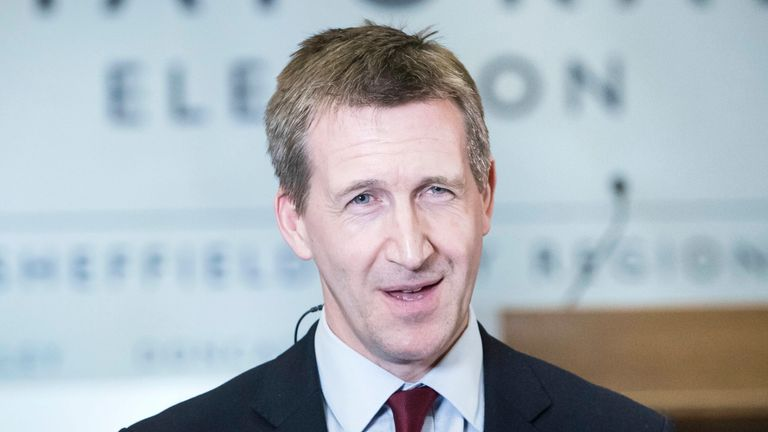 Dan Jarvis during a TV interview after being elected as the Sheffield City Region Mayor