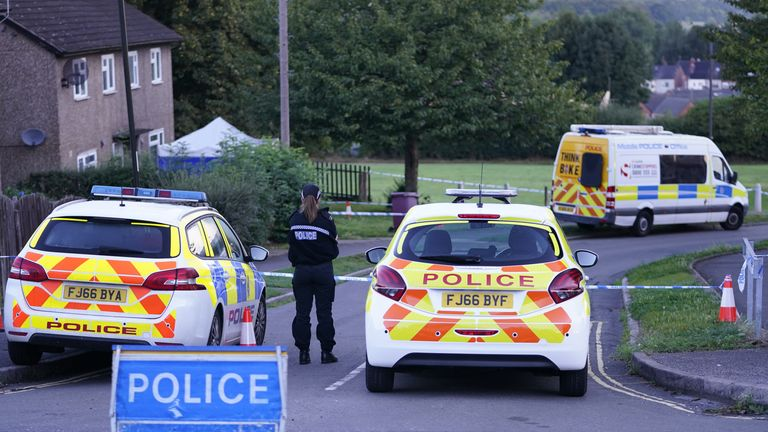 Emergency services at the scene in Chandos Crescent in Killamarsh, near Sheffield, where four people were found dead at a house on Sunday. Derbyshire Police said a man is in police custody and they are not looking for anyone else in connection with the deaths. Picture date: Monday September 20, 2021.