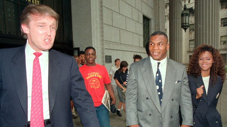 Donald Trump styled himself as a business advisor to Mike Tyson in the early 1980s. Pic: AP
