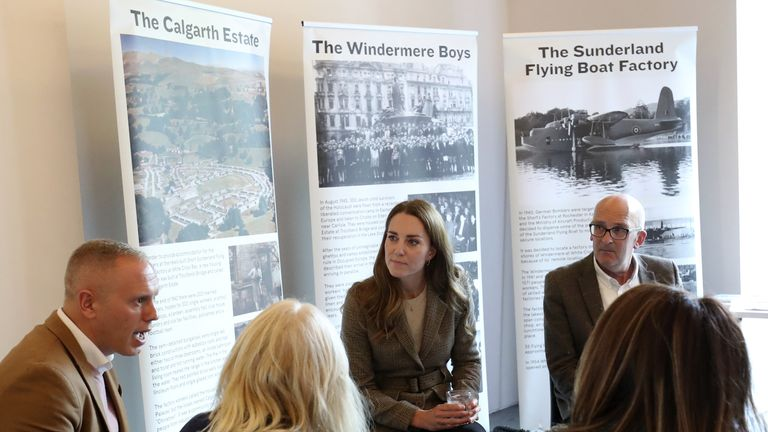 Kate met with TV personality Robert Rinder (left) in Windermere-on-Bowness and hear more about the Lake District Holocaust project