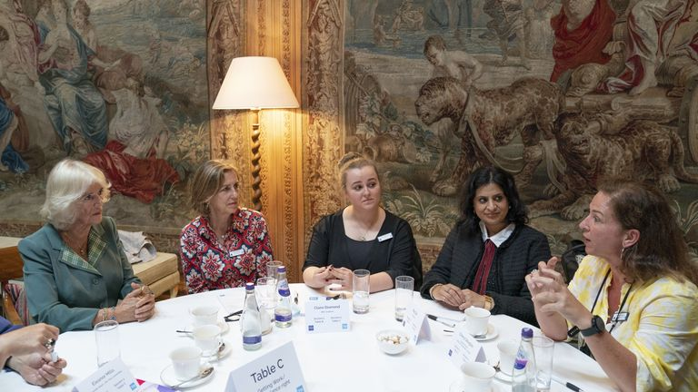 Camilla attends a Women in Journalism mentoring session and panel discussion at Dumfries House