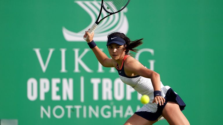 Raducanu lost her first round match at her senior debut in Nottingham in June