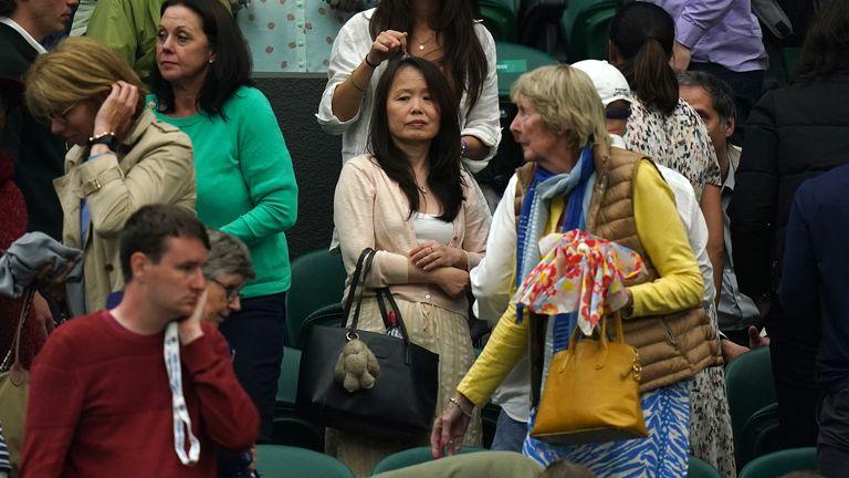 Emma's mother Renee Raducanu at Wimbledon