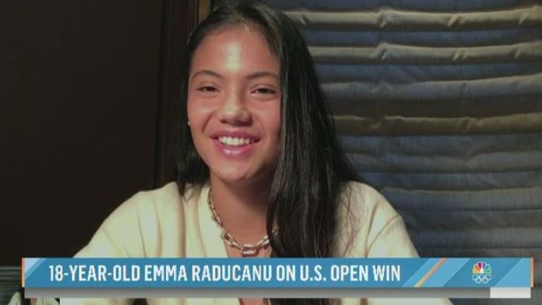 Emma Raducanu says her parents are 'proud and happy'