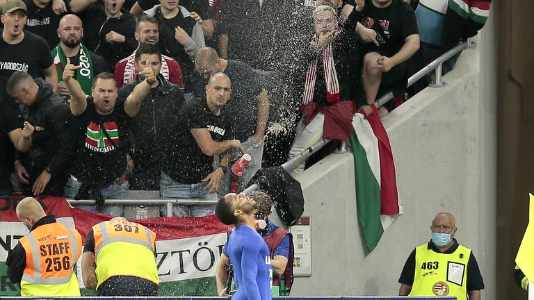 Hungary fans have previously been banned from home matches by UEFA after discriminatory behaviour during Euro 2020
